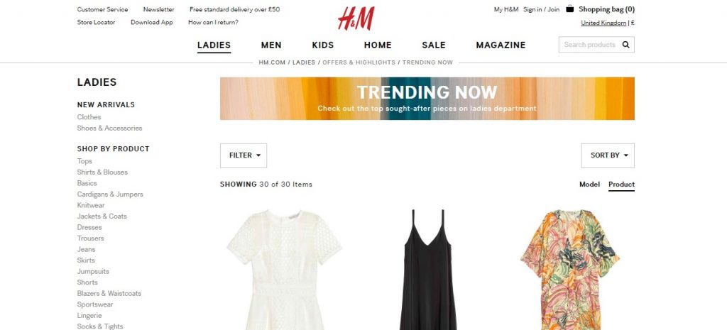 h n m trending product recommendations