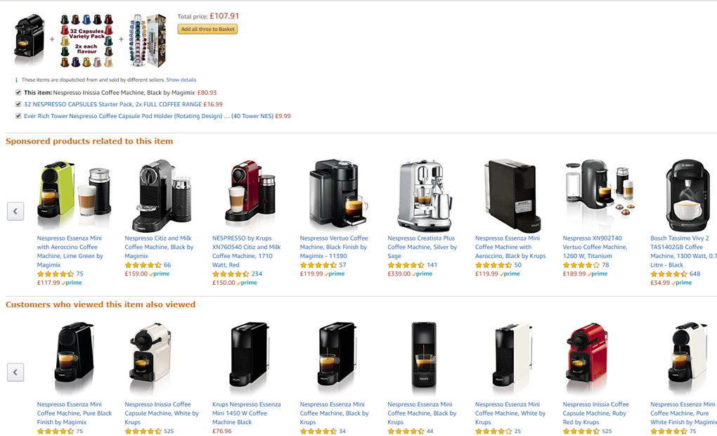 Amazon Product Recommendations - Personalisation
