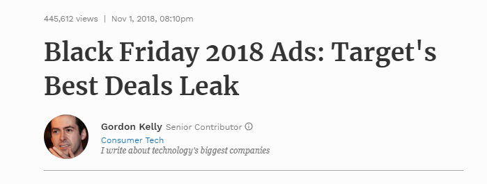marketing leak black friday