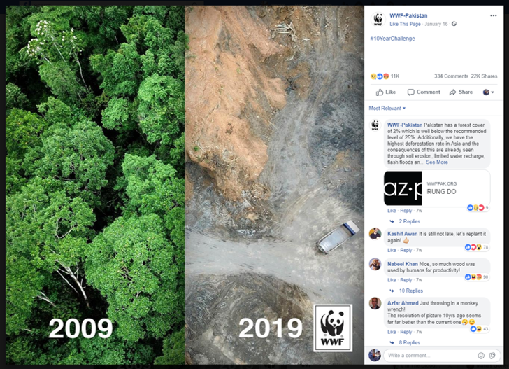 WWF social media campaign