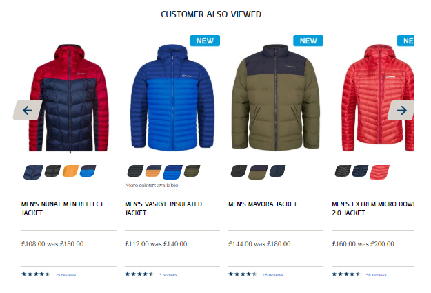 Berghaus Product Recommendations