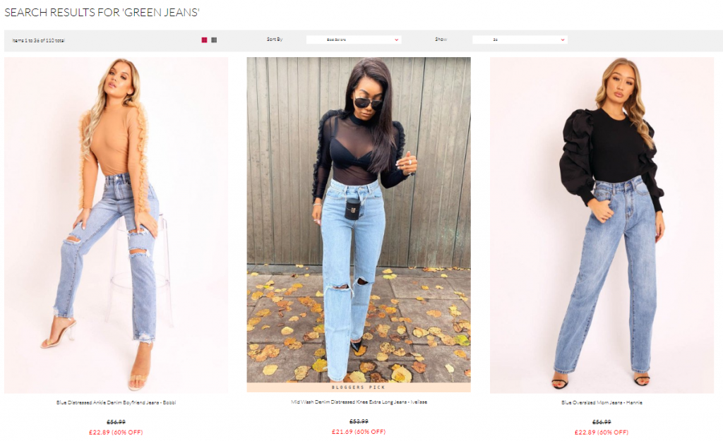 Rebellious Fashion Product Recommendations