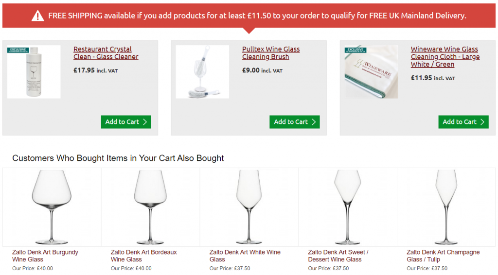 Wineware Product Recommendation Example