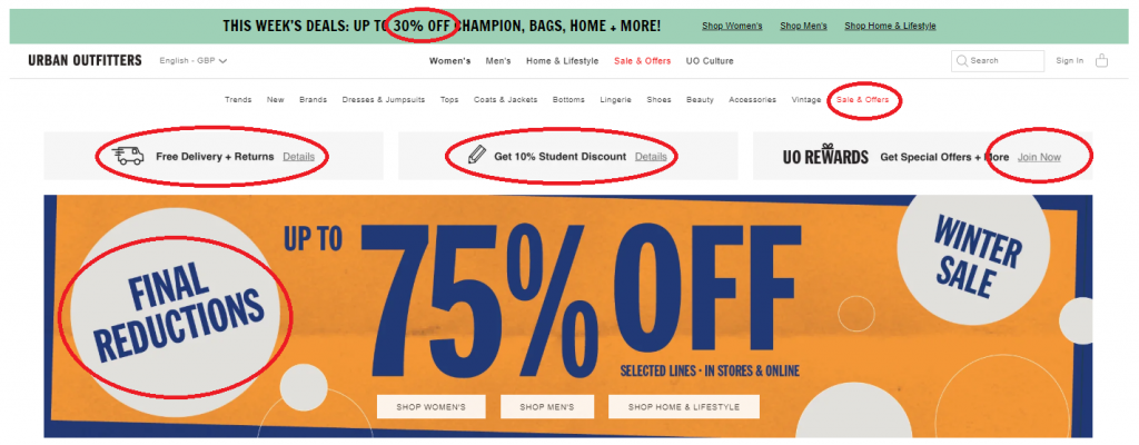 Urban Outfitters - Conversion Rate Optimization - Landing Page