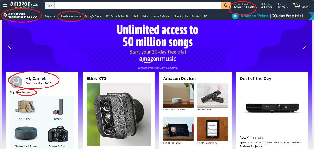 Amazon - Personalization engine