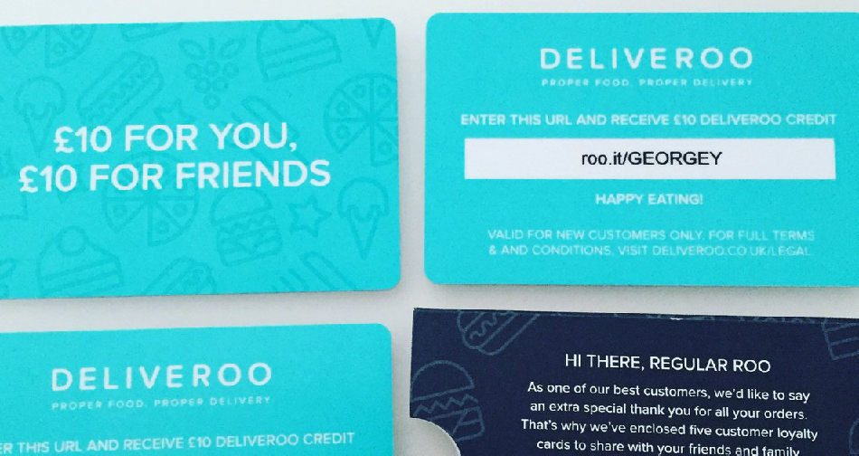 Deliveroo - discount codes