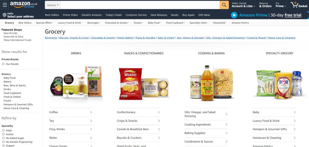 Amazon - Food eCommerce
